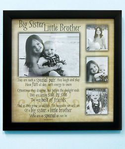 Sibling Collage Photo Frames Brother Sister Poem by © Judith Bulock Morse Sale