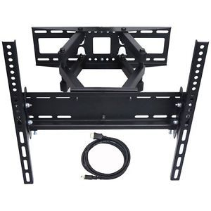 Full Motion Heavy Duty Dual Arm Articulating TV Wall Mount Bracket Tilt Swivel