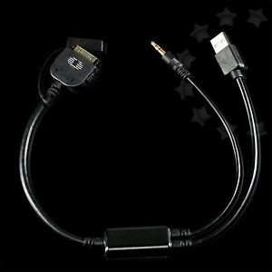 Y Cable USB to Aux Adaptor for BMW Mini Cooper iPhone iPod 30pin Interface G41