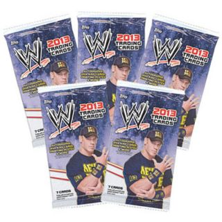 Topps Topps Trading Cards WWE 2013 Wrestling 5 Pack Lot 35 Cards New