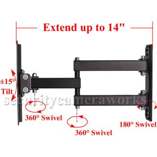 Articulating Swivel Tilt Full Motion TV Wall Mount 22 24 26 32 37 39 LED LCD B65
