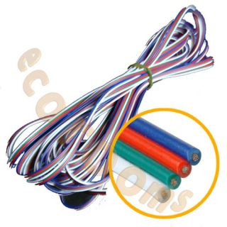 RGB Extension Wire Cable for LED Strip Rope Light White Red Green Blue 3M 100M