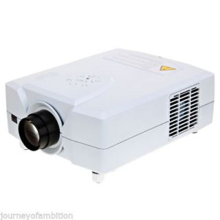 New LCD Home Theater Projector with 2 USB 2 HDMI Input 1080p 3D Movie DVD White