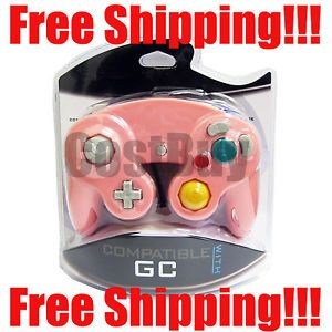New GameCube Controller for Nintendo GCU Wired Gamepad Game Controller Pink