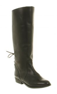 Womens Black Leather Boots Size 10