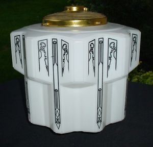 5 Fabulous Art Deco Skyscraper Lamp Shades Ceiling Light Fixtures White Globes