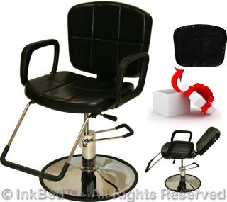 Inkbed Tattoo Black Reclining Hydraulic Barber Chair Ink Bed Salon Equipment