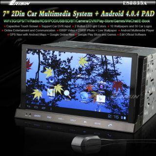 "ES8835USA 7"" 2Din Capacitive Screen Android 4 0 Car Radio Nav DVD CD WiFi 3G GPS"