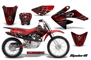 Honda CRF 70 80 100 Graphics Kit Decals Creatorx Spiderx SXR