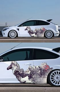 Full Color Car Sticker Vinyl Decal Side Animal Horse 1