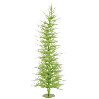 Vickerman 4 ft x 19 in Green Laser Artificial Christmas Tree with 70 Lights 734205186084