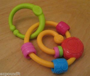 Kids II Bright Starts Gym Loop Link Toy Spiral Bead Chaser Teether Rattle 9007 U