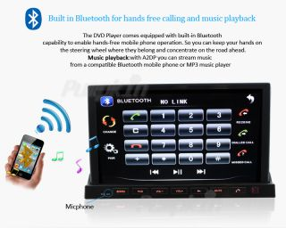 2 DIN Car Stereo GPS SAT Navigation iPod BT Android WiFi 3G Detachable Tablet