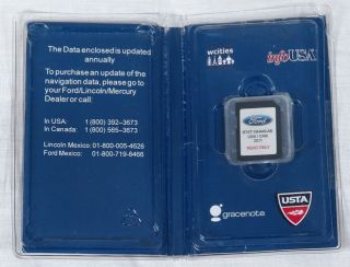 Ford Lincoln Mercury Navigation System Map Version A1 SD Card USA Canada