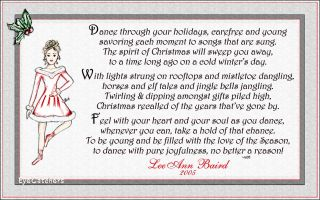 Personalized Christmas Ballerina Dancer Greeting Cards