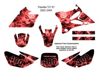 Yamaha YZ 85 MX Bike Decal Graphics Kit Zombie 9500R