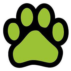 Lime Green Paw Car Magnet Quality