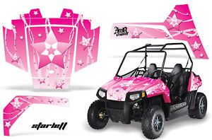 AMR Racing Kids Razor Parts Graphics Kit Polaris RZR170 170 Sticker Pink
