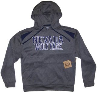 Campus Drive Navada Wolf Pack Athletic Mens Sweatshirt Hoodie Gray