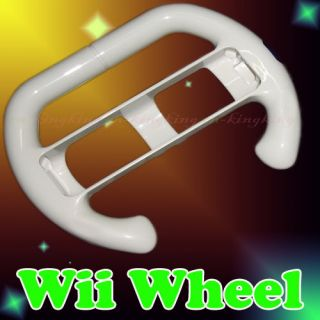 New Steering Wheel for Wii Mario Kart Racing Game White