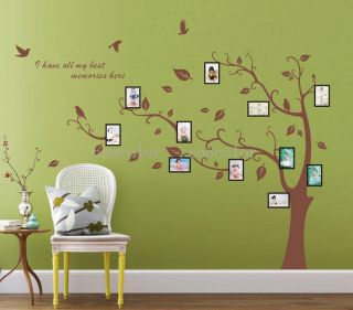 High Quality Vinyl Wall Decals 1 7M Large Family Photo Tree Decal Custom Colours