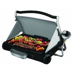 George Foreman Portable Propane Grill Griddle Camping Tailgating Backyard BBQ