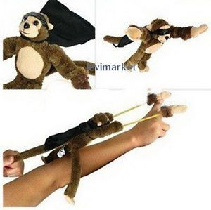 Funny Screaming Flying Monkey Finger Slingshot Animal Plush Toys for Kids Gift