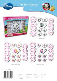 17 Piece Disney Tea Set Girl Kids Party Play Child Porcelain China