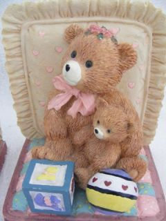 Book Ends Teddy Bears Toys Family Handpainted B4