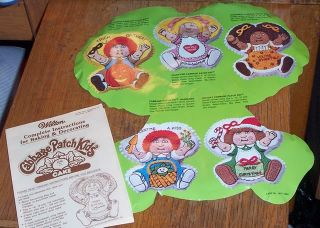 1984 Cabbage Patch Kids Wilton Birthday Cake Pan w Insert Instructions