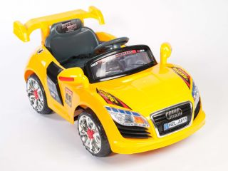 Audi R8 GT Style Kids 12V Electric Power Wheels Ride on Car  RC Remote Yellow
