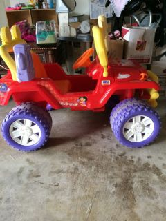 Fisher Price Power Wheels Kids Jeep Dora The Explorer