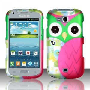 Cute Patchwork Owl Hard Case Cover Samsung Admire 2 II Galaxy Axiom