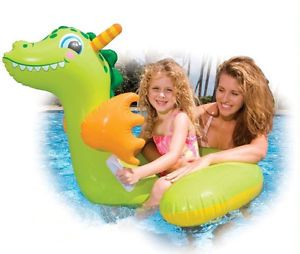 Inflatable Baby Infant Kids Swim Pool Ring Toys Boat Floating Dragon K0840