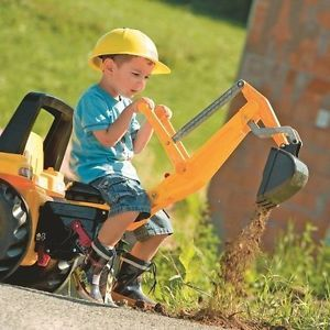Caterpillar Pedal Tractor w Front Loader and Backhoe Boys Toy Cat Digging Kids