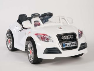 Ride on Car 12V Audi Style Kids Power Wheels w  Remote Control White RC