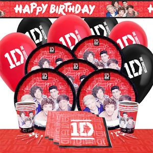 Official One Direction 1D Party Range Birthday Decorations Supplies All Items