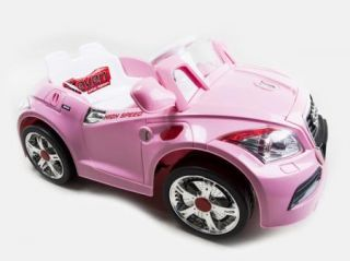 Ride on Car 12V Audi Style Kids Power Wheels w  Remote Control Toy Pink 2014