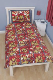 "Marvel Iron Man ""Armour"" Single Duvet Cover Bedding Set in Stock Ready"
