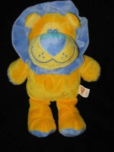 Dakin Yellow Orange Blue Lion Plush Baby Toy Lovey
