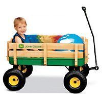 "Ertl RC2 John Deere 36"" Steel Stake Wagon Kids Toy"