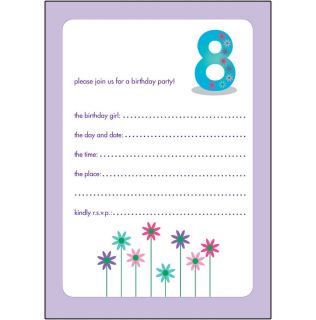 10 Childrens Birthday Party Invitations 8 Years Old Girl Cute Bpif 35 Candy