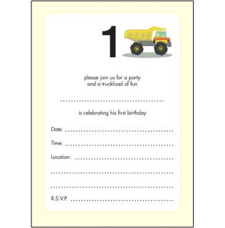 10 Childrens Birthday Party Invitations 1 Year Old Boy Cute Bpif 11 Truck