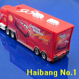 Disney Toy Car Mack Uncle Lightning McQueen Container Truck 2012 New Red