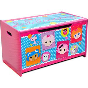 Lalaloopsy Kids Wooden Toy Box Storage Chest New