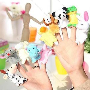 10pcs Cute Animal Set Baby Kids Story Educational Toys Finger Puppet Plush Toys