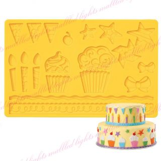 Kids' Party Fondant Gum Paste Silicone Cake Decorating Supplies Mold Tool Hot