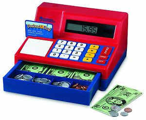 Cash Register Calculator Pretend Play Kids Fun Money Learning Store Educational