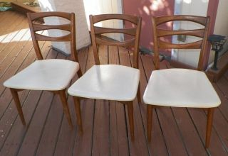 Set of 3 John Stuart Mid Century Modern Dining Room Chairs