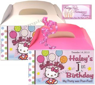 Hello Kitty Birthday Favors Goody Loot Box Personalized with Your Childs Name